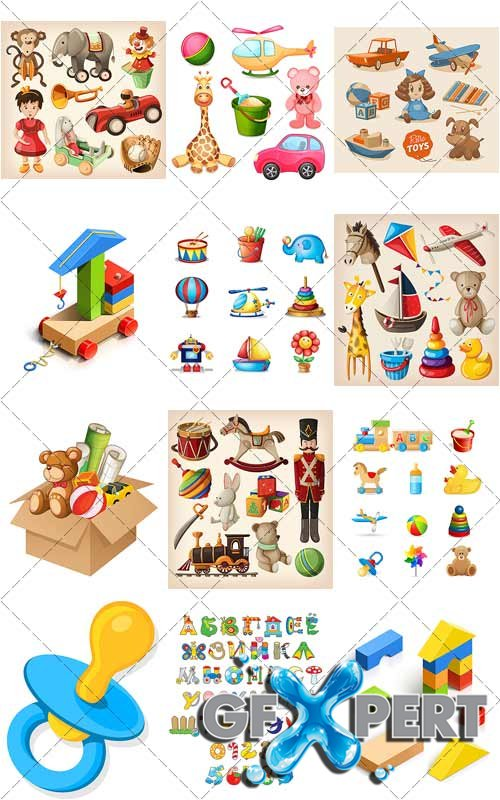 Collection toys - VectorImages