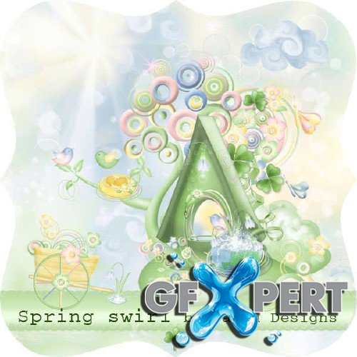 Scrap set - Spring swirl