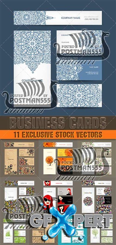 Business cards design, style, collection - Vector