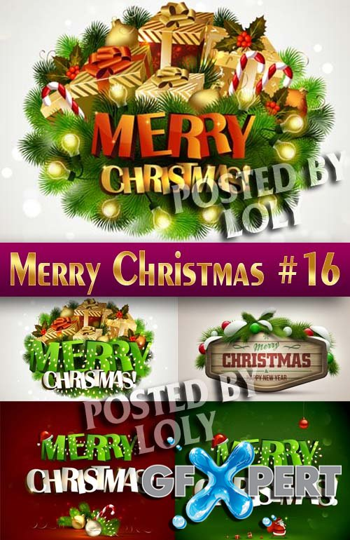 Merry Christmas Designs 2014 #16 - Stock Vector
