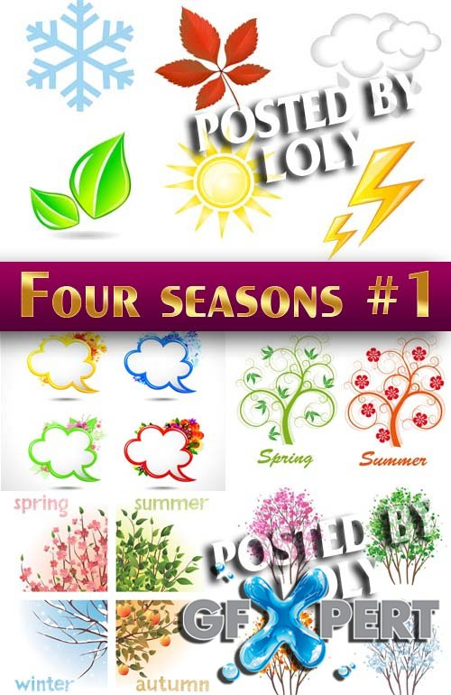 Four Season #1 - Stock Vector