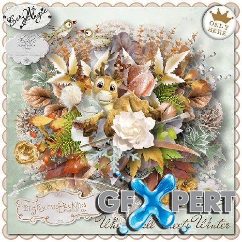 Digital scrap set - When fall meets winter
