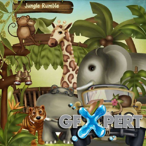 Scrapbooking kit - Jungle Rumble
