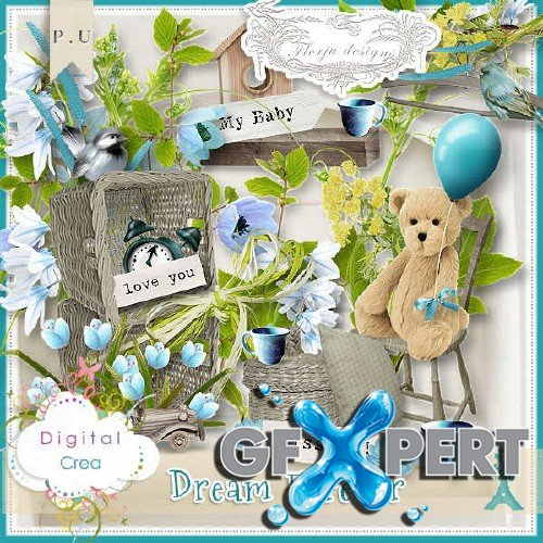 Scrapbooking set - Dream Forever