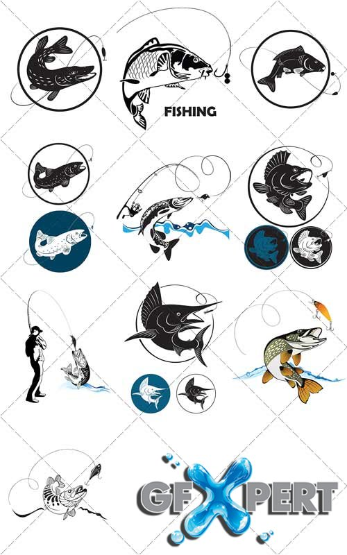 Fishing for spinning, trophies - VectorStock
