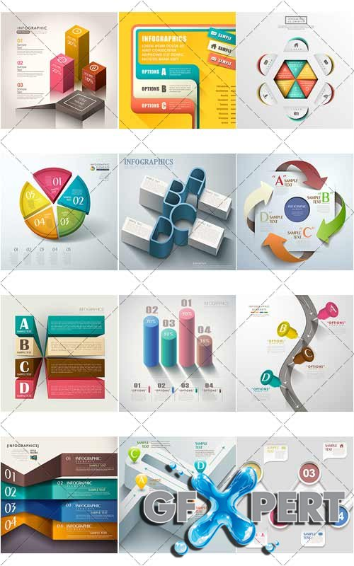 Design templates for enterprises, infographics 7 - VectorStock