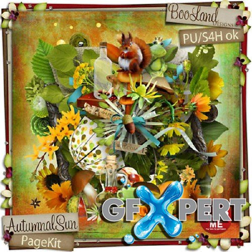 Beautiful scrap kit - Autumnal Sun