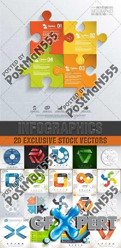 Design templates for enterprises, infographics 8 - Vector