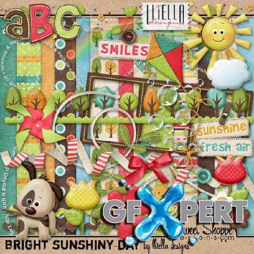 Digital scrapbooking set - Bright Sunshiny Day
