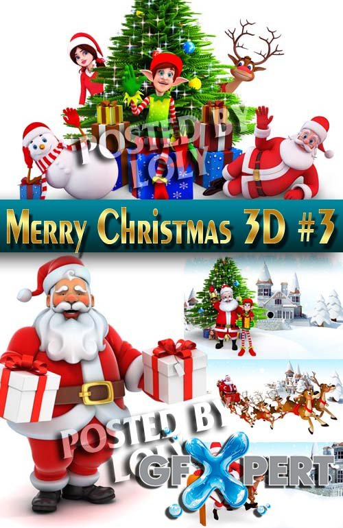 Merry Christmas Designs 2014. 3D #3 - Stock Photo