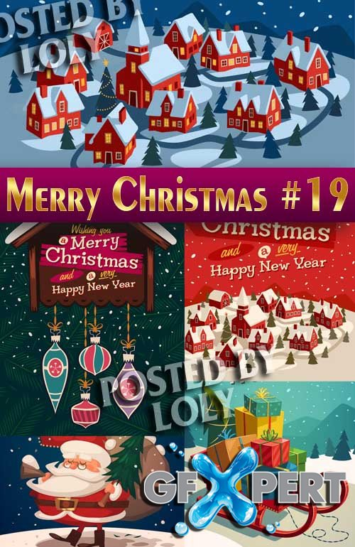 Merry Christmas Designs 2014 #19 - Stock Vector