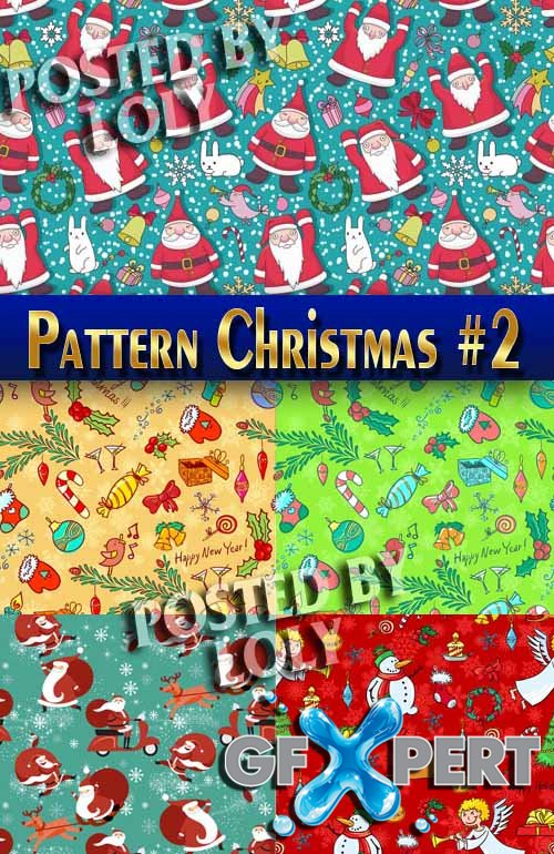 Christmas patterns 2014 #2 - Stock Vector