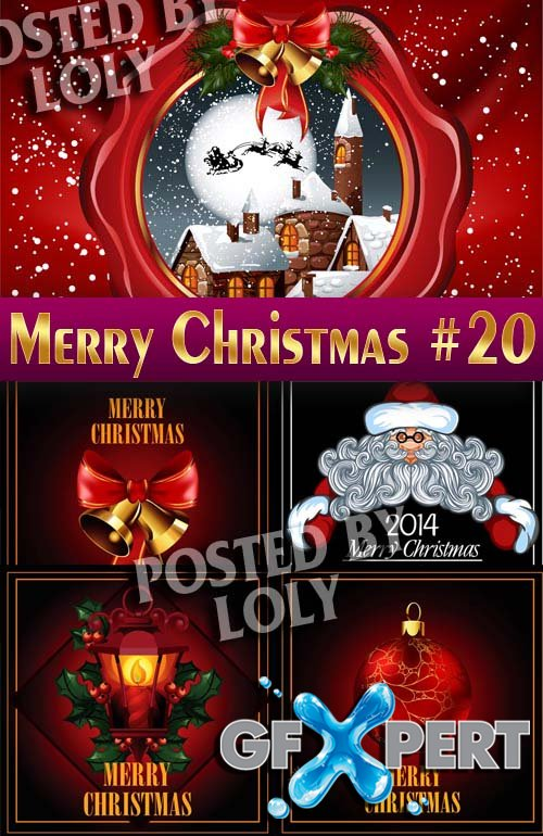 Merry Christmas Designs 2014 #20 - Stock Vector