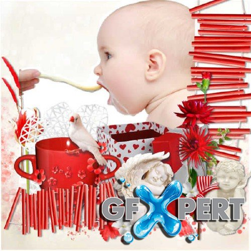 Scrapbooking kit - My dream in red