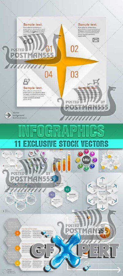 Design templates for enterprises, infographics 9 - VectorStock