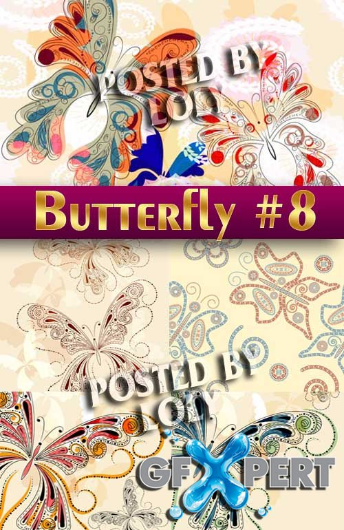 Beautiful butterfly #8 - Stock Vector