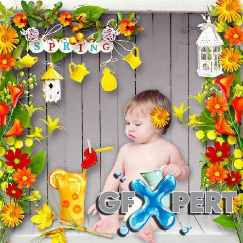 Scrapbooking kit - Colorful Spring