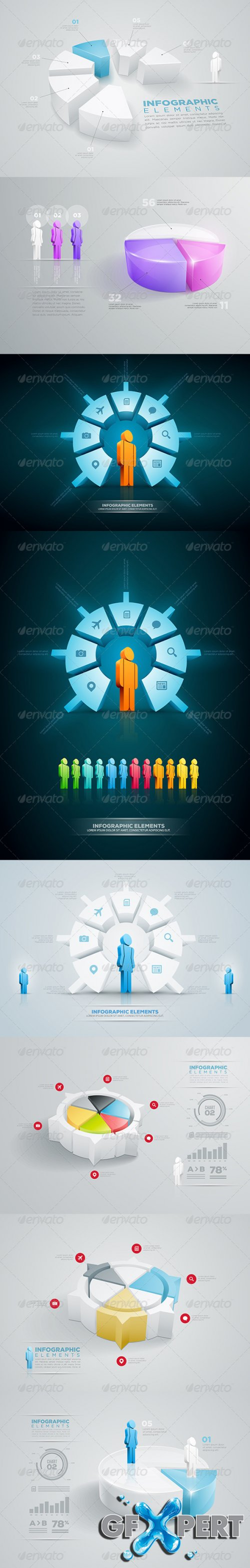 GraphicRiver - Pie Chart Infographic Collection