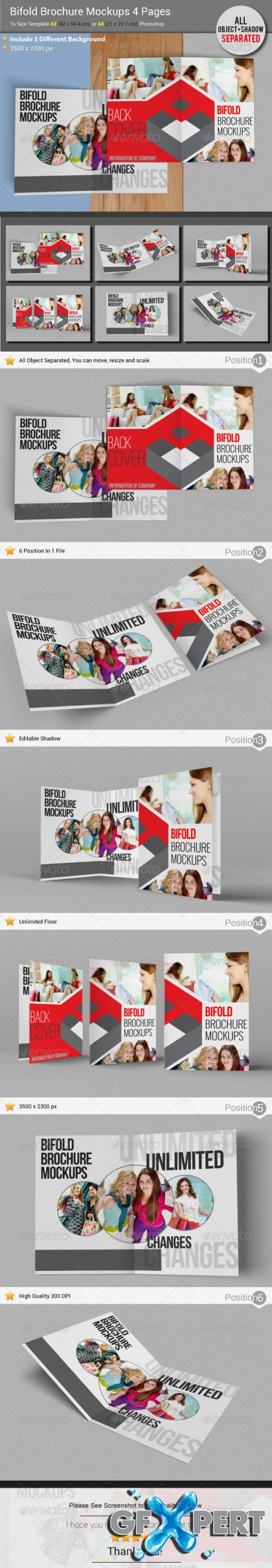 GraphicRiver - Brochure Mockups 4 Pages