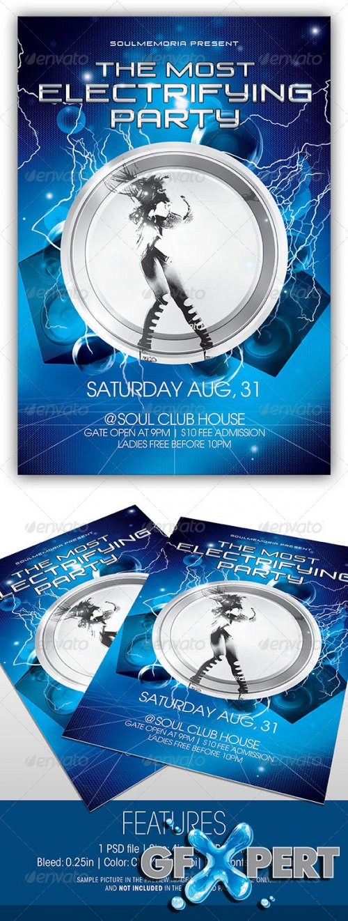 GraphicRiver - Electrifying Party Flyer