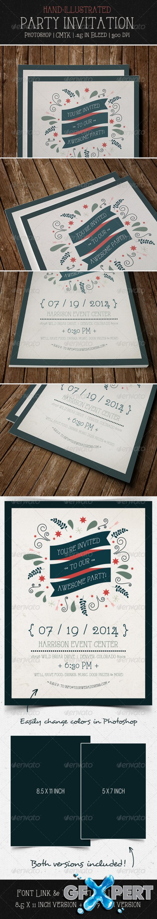 GraphicRiver - Party Invitation Flyer | Postcard
