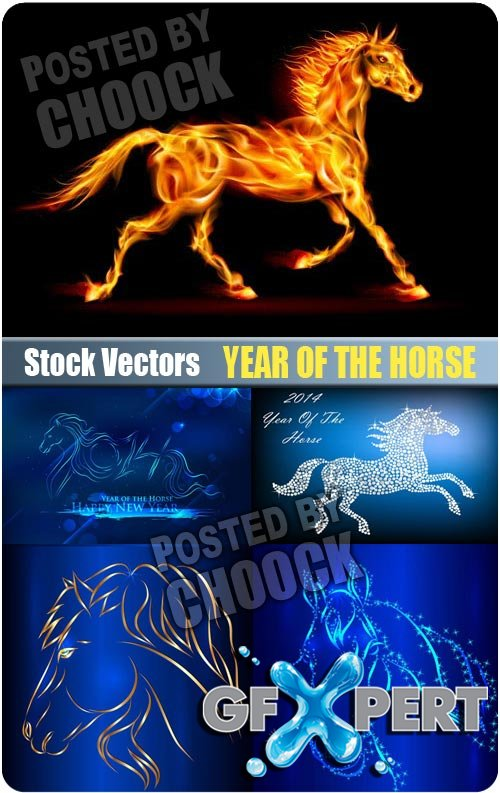Year of the horse - Stock Vector