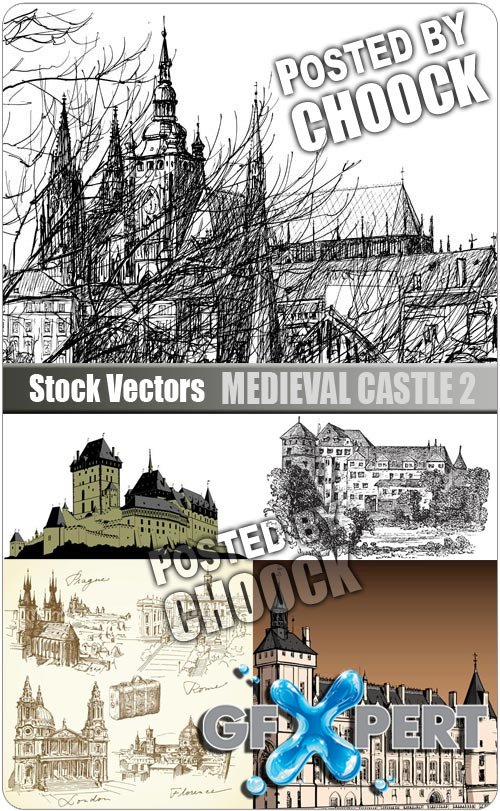 Medieval castle 2 - Stock Vector