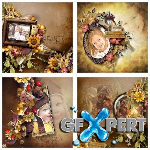 Scrapbooking kit - Joys of Autumn