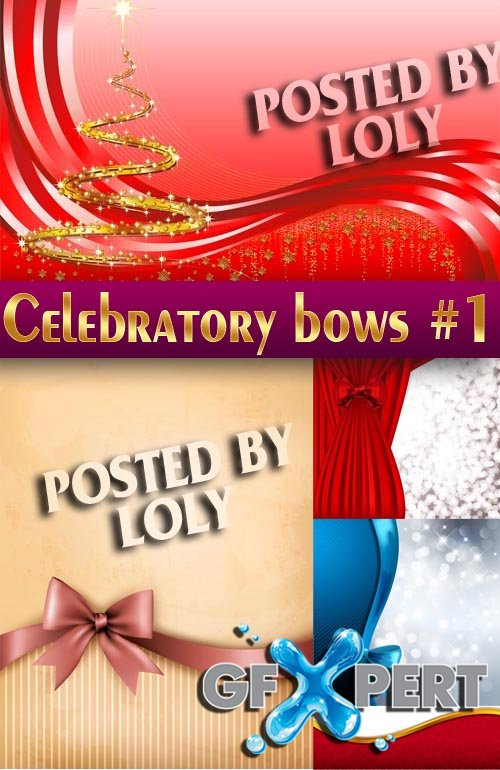 Celebratory bows #1 - Stock Vector
