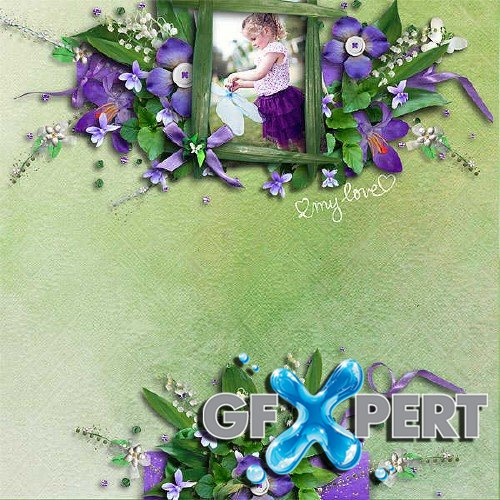 Scrapbooking set - Violet and Lily