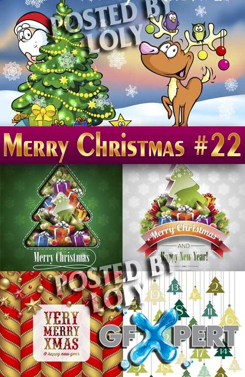 Merry Christmas Designs 2014 #22 - Stock Vector