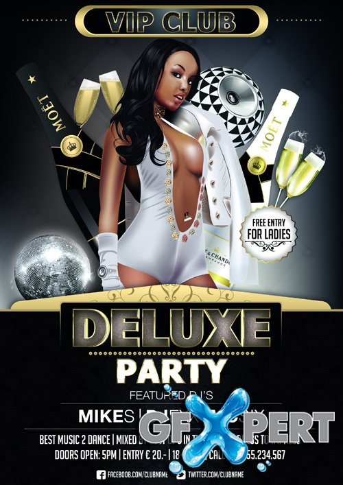 Free Deluxe Party Flyer Template Download