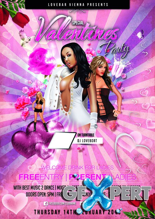 Special Valentines Party Flyer Template