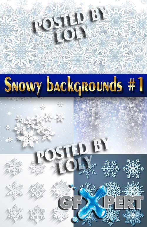 Snowy backgrounds #1 - Stock Vector