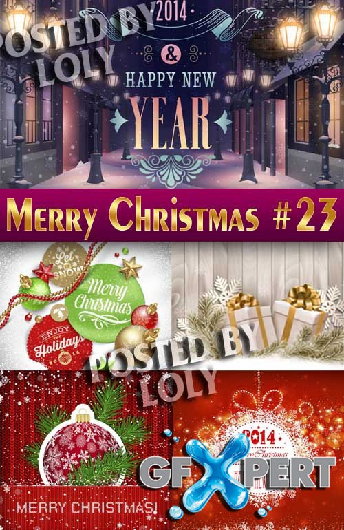 Merry Christmas Designs 2014 #23 - Stock Vector