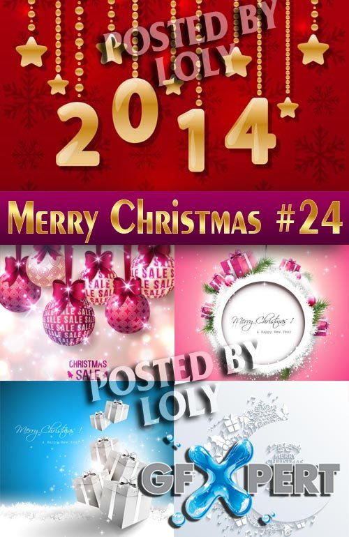 Merry Christmas Designs 2014 #24 - Stock Vector