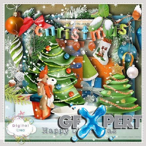 Draw scrap kit - Happy Christmas Time