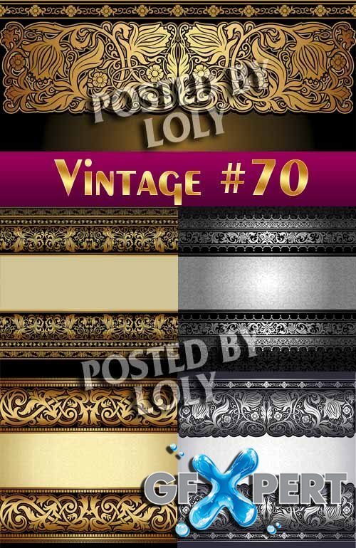 Vintage backgrounds #70 - Stock Vector