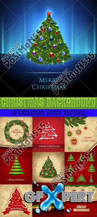 Beautiful backgrounds for Christmas and New Year, 7 - Vector