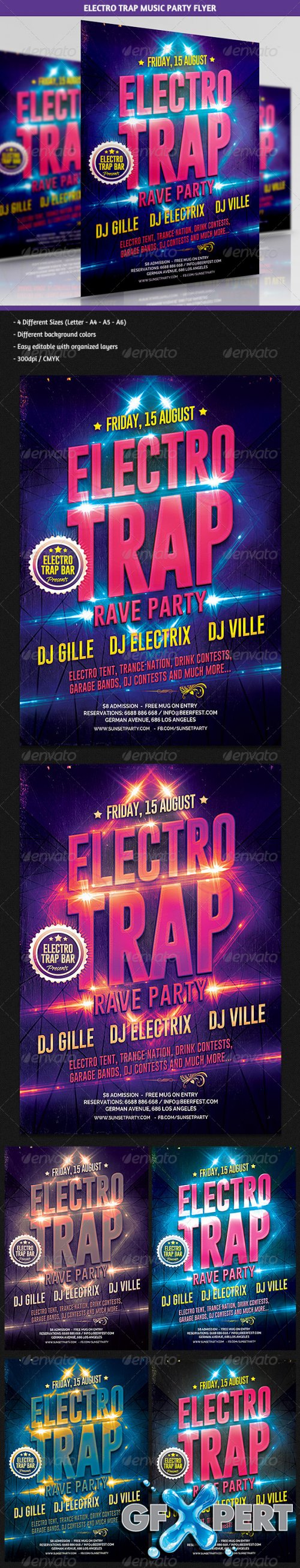 GraphicRiver - Electro Trap Music Party Flyer