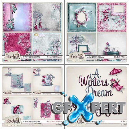 Digital scrapbooking kit - A Winters Dream