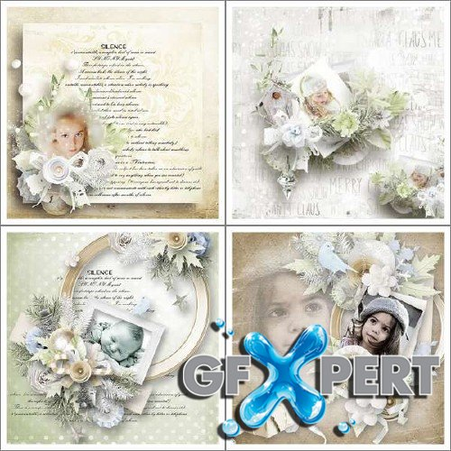 New year scrap kit - Silent Christmas
