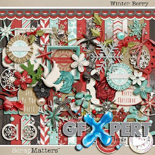 Scrap set - Winter Berry