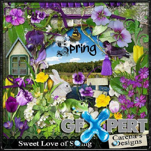 Digital scrapbooking kit - Sweet Love of Spring