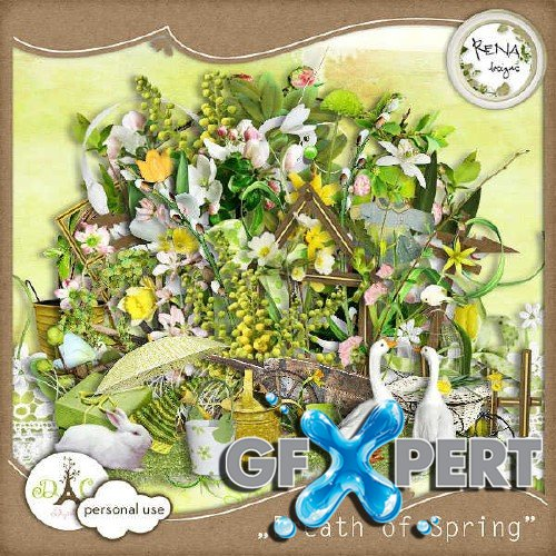 Scrapbooking set - Breath of Spring