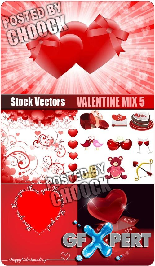 Valentine mix 5 - Stock Vector