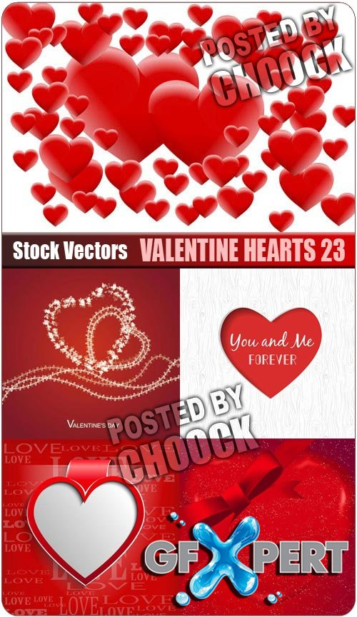 Valentine hearts 23 - Stock Vector