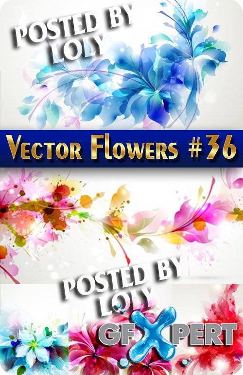 Vector Flowers #36 - Stock Vector