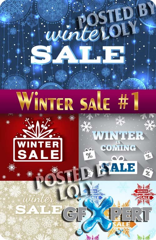 Winter Sale #1 - Stock Vector