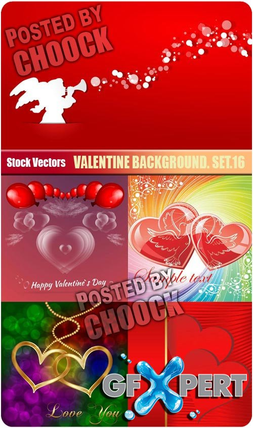 Valentine background. Set.16 - Stock Vector